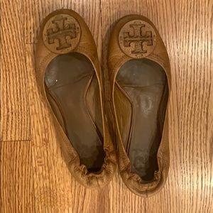 Tory Burch Reva Leather Ballet Flat